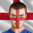 England fan with facepaint — Stock Photo #46757675
