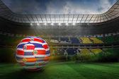Fútbol en costa rica de colores — Foto de Stock