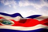 Composite image of costa rica flag waving — Stock Photo