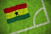 Sammansatt bild av ghana flagga — Stockfoto