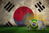 Composite image of brazil world cup 2014  — Foto de Stock