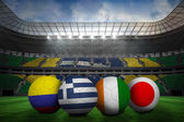 Group c world cup footballs — Stock Photo