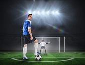 Футболист собирается взять штраф — Стоковое фото