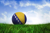 Football in bosnia and herzegovina colours — Stock Photo