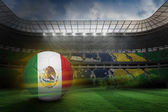 Football in mexico colours — Stock Photo