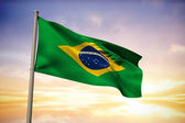 Composite image of brazil national flag — Stock Photo