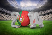 Composite image of portugal world cup 2014  — Stock Photo