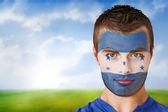Honduras football fan in face paint — Stock Photo