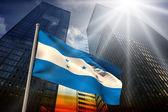 Composite image of honduras national flag — Stock Photo