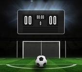 Resultattavlan utan poäng och fotboll — Stockfoto