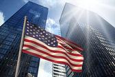 Composite image of usa national flag — Stock Photo