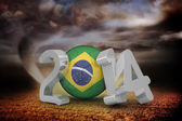 Composite image of brazil world cup 2014  — Stockfoto