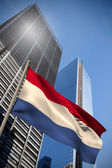 Composite image of netherlands national flag — Stock Photo