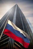 Composite image of russia national flag — Stock Photo