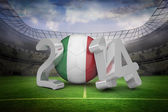 Composite image of italy world cup 2014  — Stock Photo