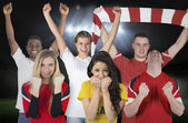 Composite image of various football fans — Stockfoto