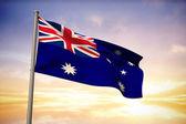 Composite image of australia national flag — Stock Photo