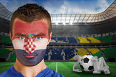Croatia fan with face paint — Stock Photo