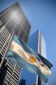 Composite image of argentina national flag — Stock Photo