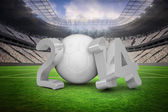 Composite image of world cup 2014 in white and grey — Stock Photo