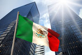 Composite image of mexico national flag — Foto de Stock