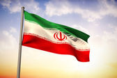 Composite image of iran national flag — Stock Photo
