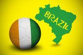 Imagen compuesta del fútbol de costa de marfil colores — Foto de Stock