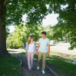 Couple walking in the park — Stock Photo #46787035