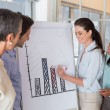 Business people working on graph for presentation — Stock Photo #46787701