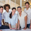 Group of coworker friends smiling — Stock Photo #46788563