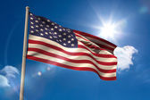 United states of america national flag on flagpole  — Stock Photo