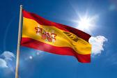 Spain national flag on flagpole  — Stock Photo