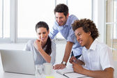 Colleagues working hard — Stock Photo