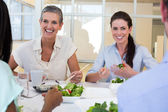 Business people enjoy healthy lunch — Stock Photo