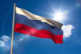 Russia national flag on flagpole  — Stock Photo
