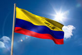 Colombia national flag on flagpole — Stock Photo