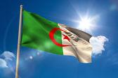 Algeria national flag on flagpole — Stock Photo