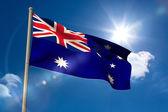 Australia national flag on flagpole — Stock Photo