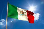 Mexico national flag on flagpole  — Stock Photo