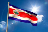 Costa rica national flag on flagpole — Stock Photo
