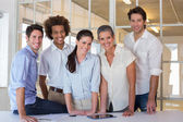Group of coworker friends smiling — Stock Photo