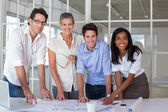 Team of architects — Stock Photo