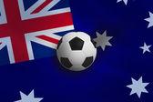 Football against australia flag — Стоковое фото