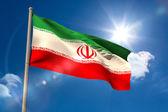 Iran national flag on flagpole  — Stock Photo