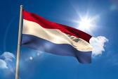 Netherlands national flag on flagpole  — Stock Photo