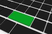 Yeşil tuş ile siyah klavye — Stok fotoğraf