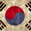 Korea republic flag in grunge effect — Stock Photo #46791565
