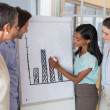 Business people working on graph for presentation — Stock Photo #46791795