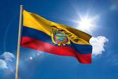 Ecuador national flag on flagpole  — Stock Photo