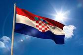 Croatia national flag on flagpole  — Stock Photo